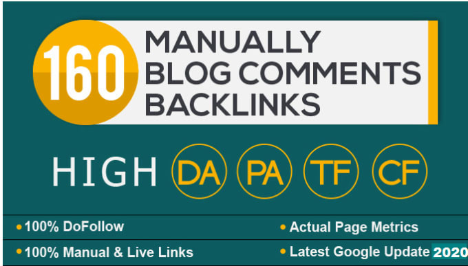 I will manually 160 dofollow backlinks boost your website ranking