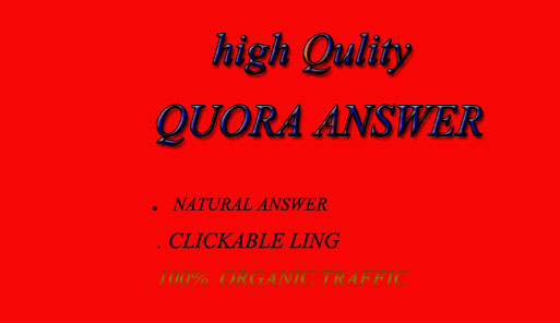 100 Quora Answer And 100 Organic Traffic