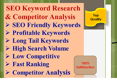 Profitable SEO Keyword Research and Competitor Analysis to rank your site
