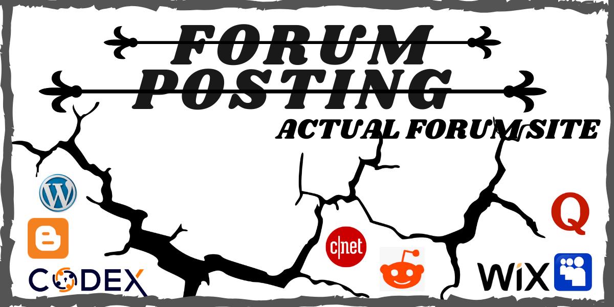 Unique 60 High Forum Posting In An Actual Forum Site