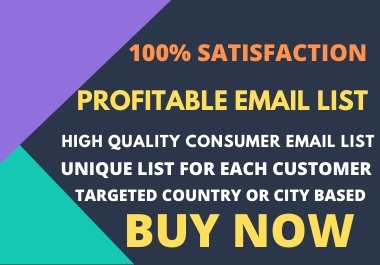 Profitable Consumer Email list- 1000 consumer email database