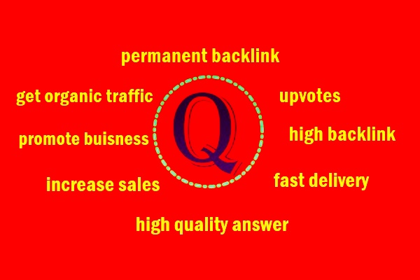 I can provide 15 quora answer to promote your website with high backlink+ upvote