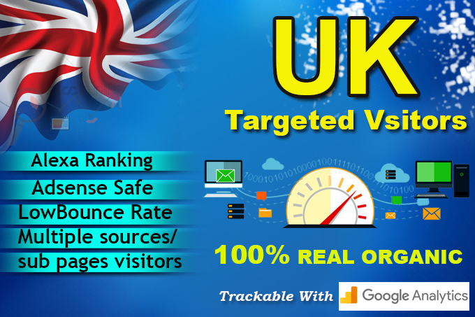 Send UK Keyword Targeted Organic website Traffic