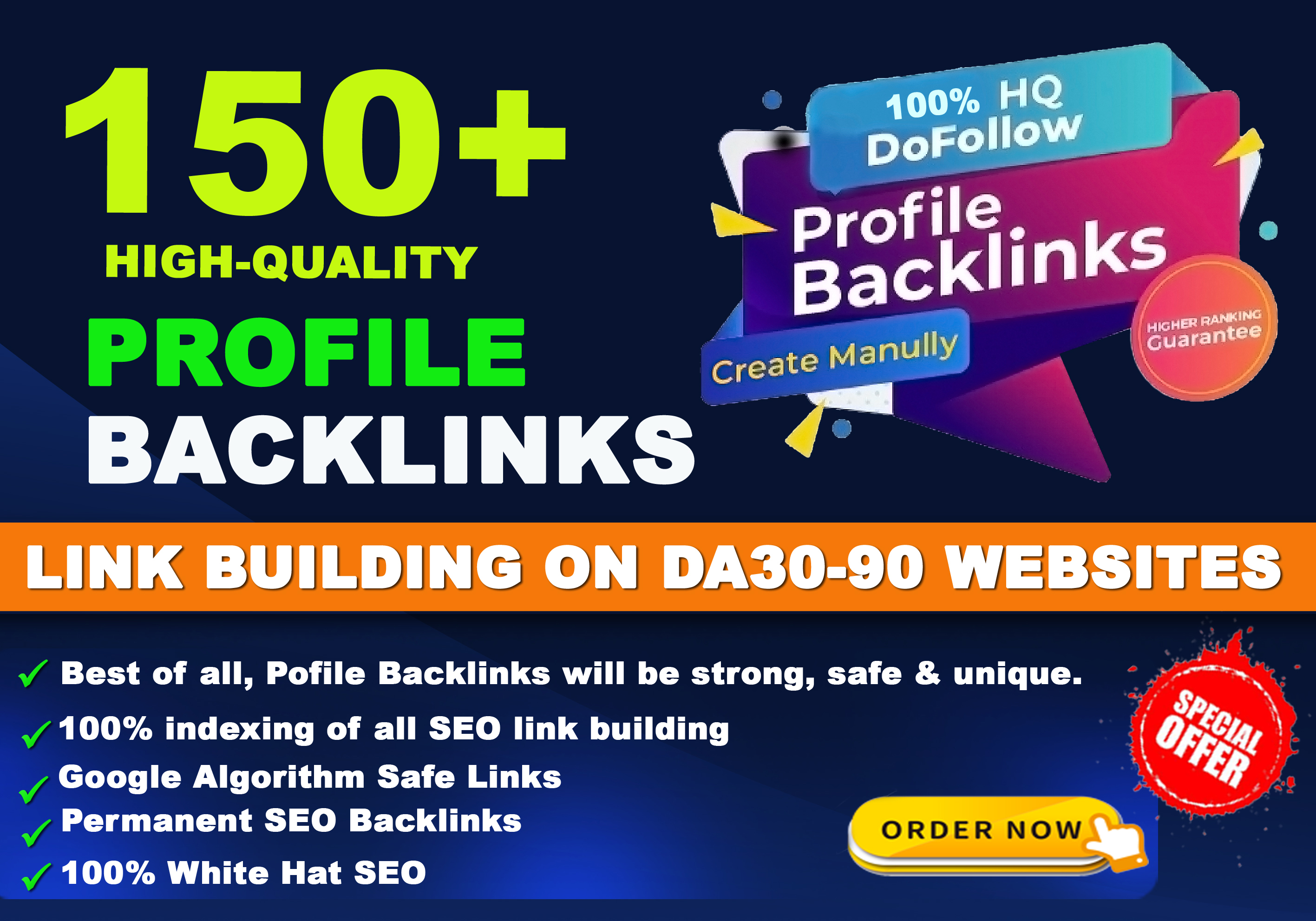 Create High Quality Dofollow Permanent Profile Backlinks for SEO