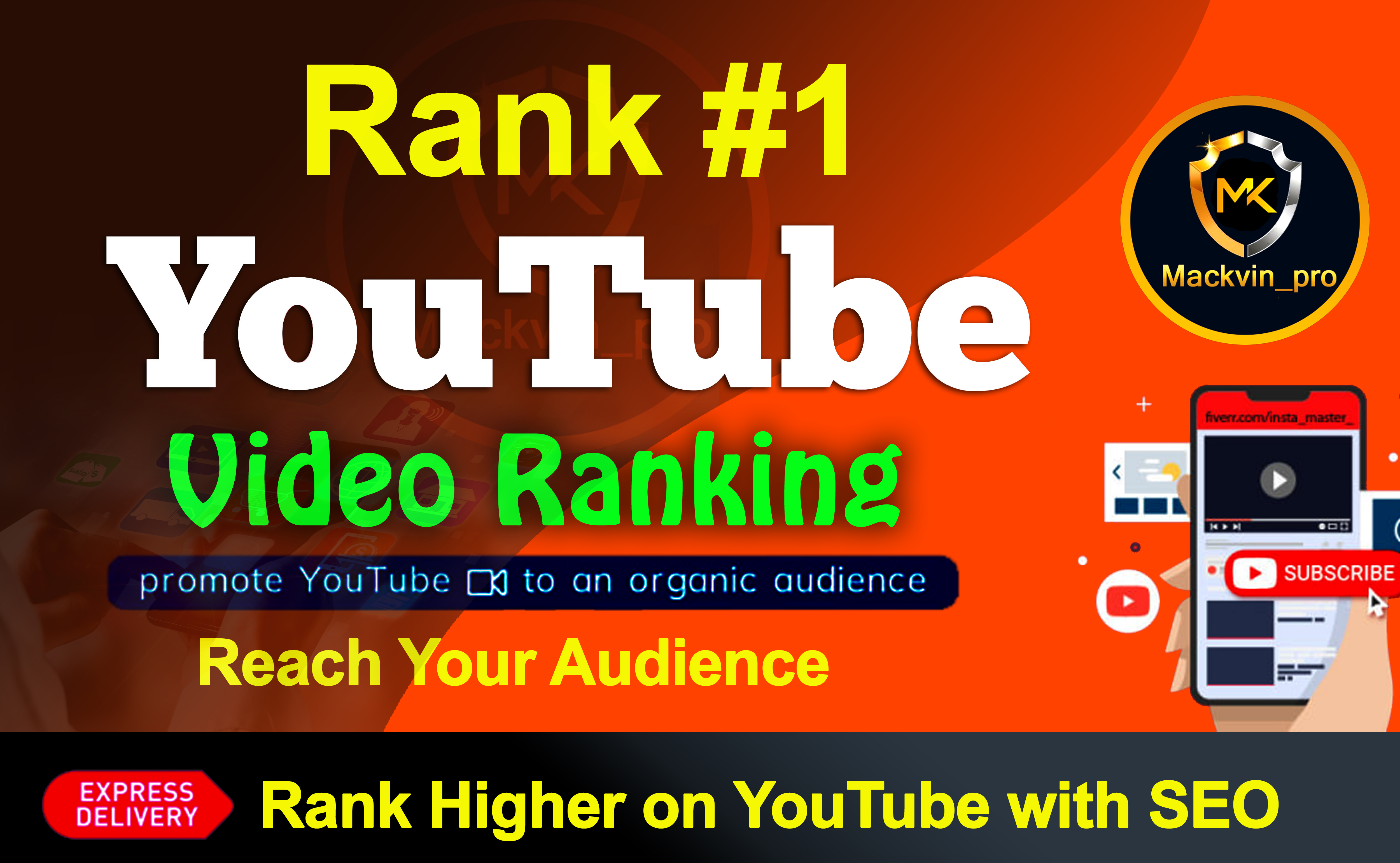 YouTube Video Ranking on First Page with Real Audience and SEO