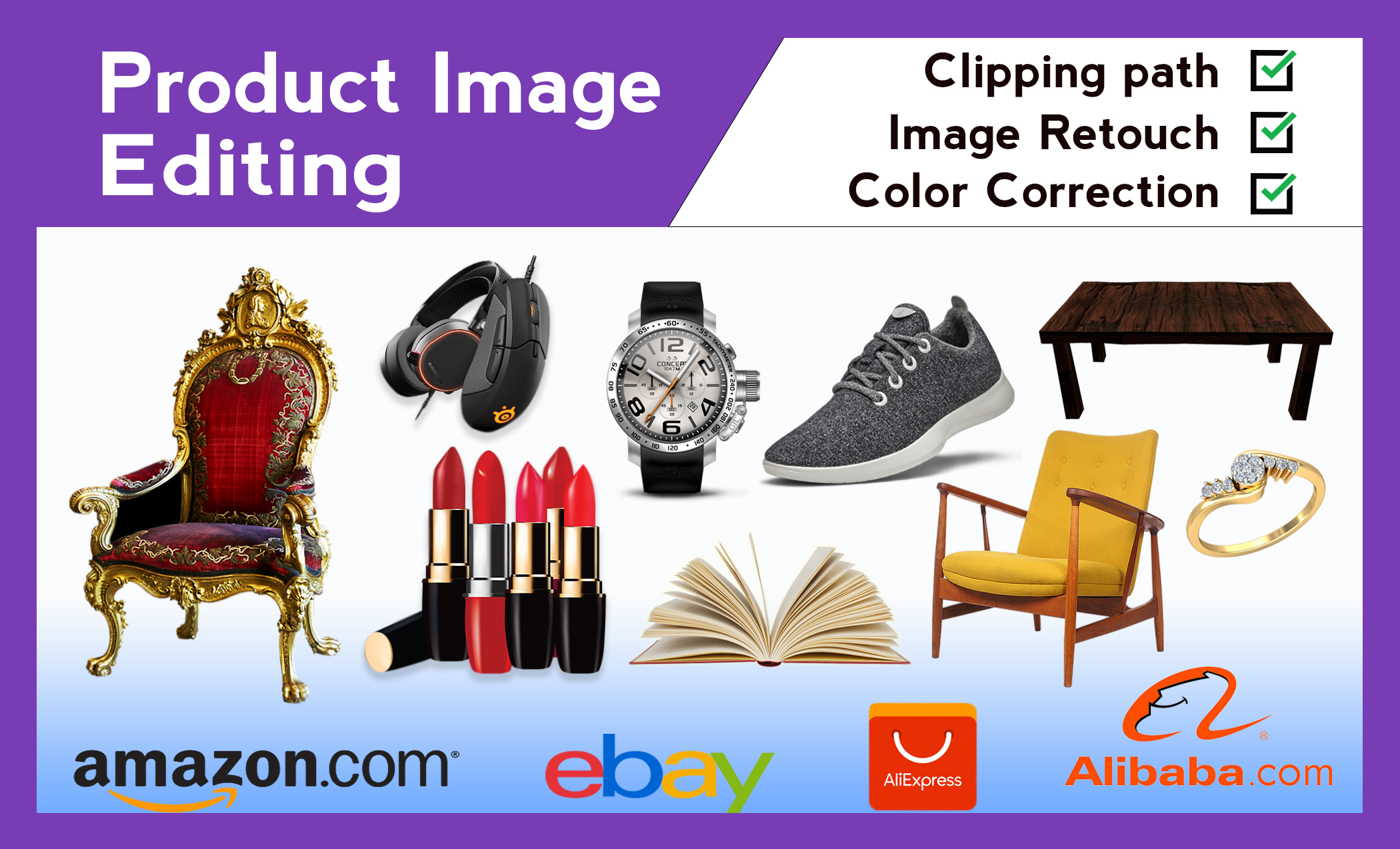 I will do amazon product photo editing,  background remove and photo retouching