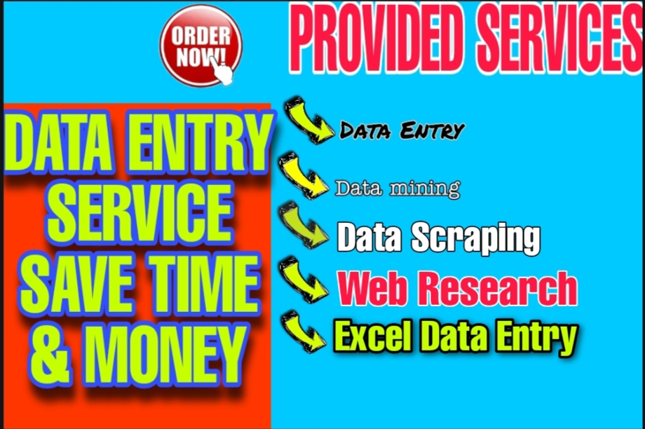 I will do web scraping,  web research,  and data mining