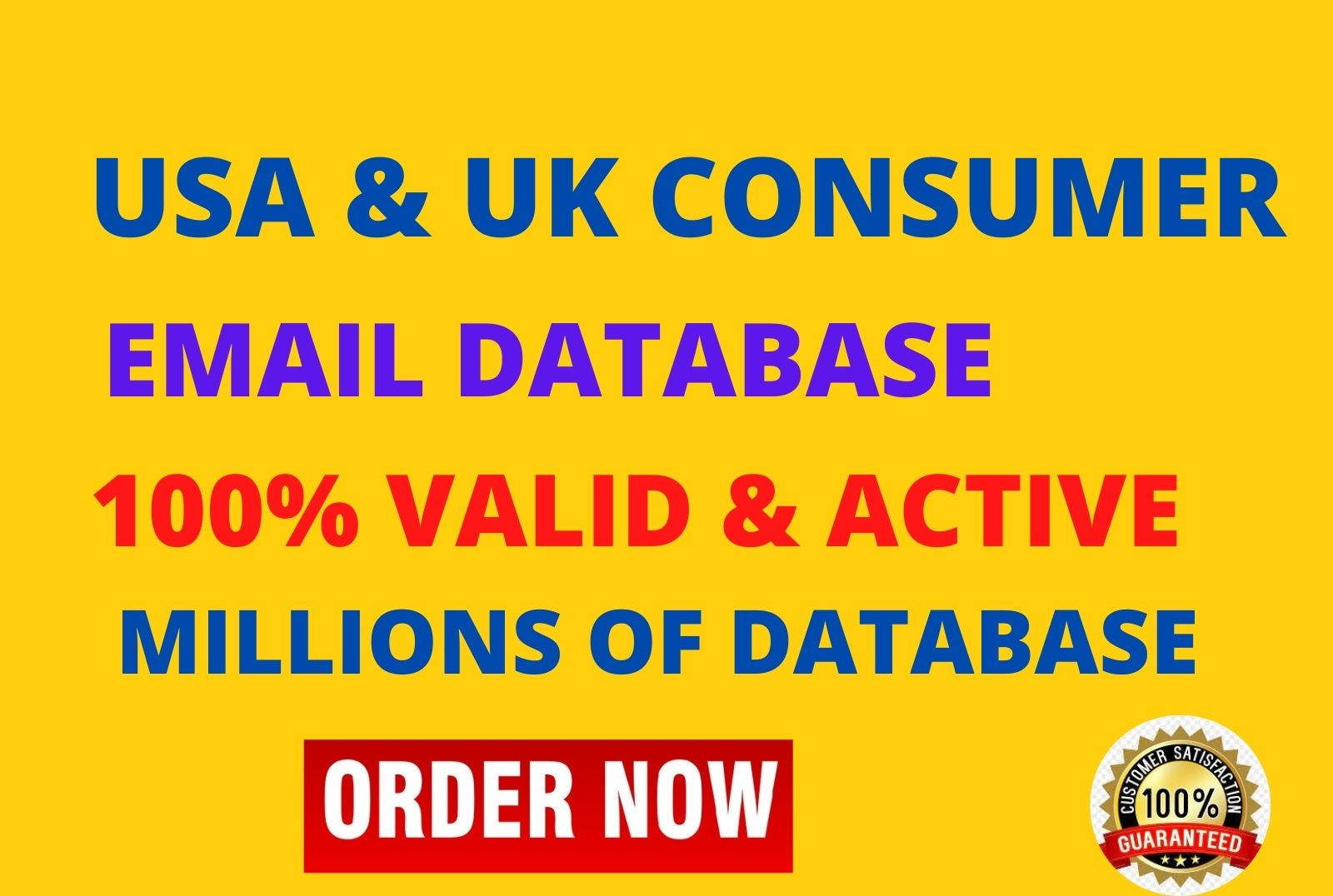 I will give you clean and verified US consumers email leads