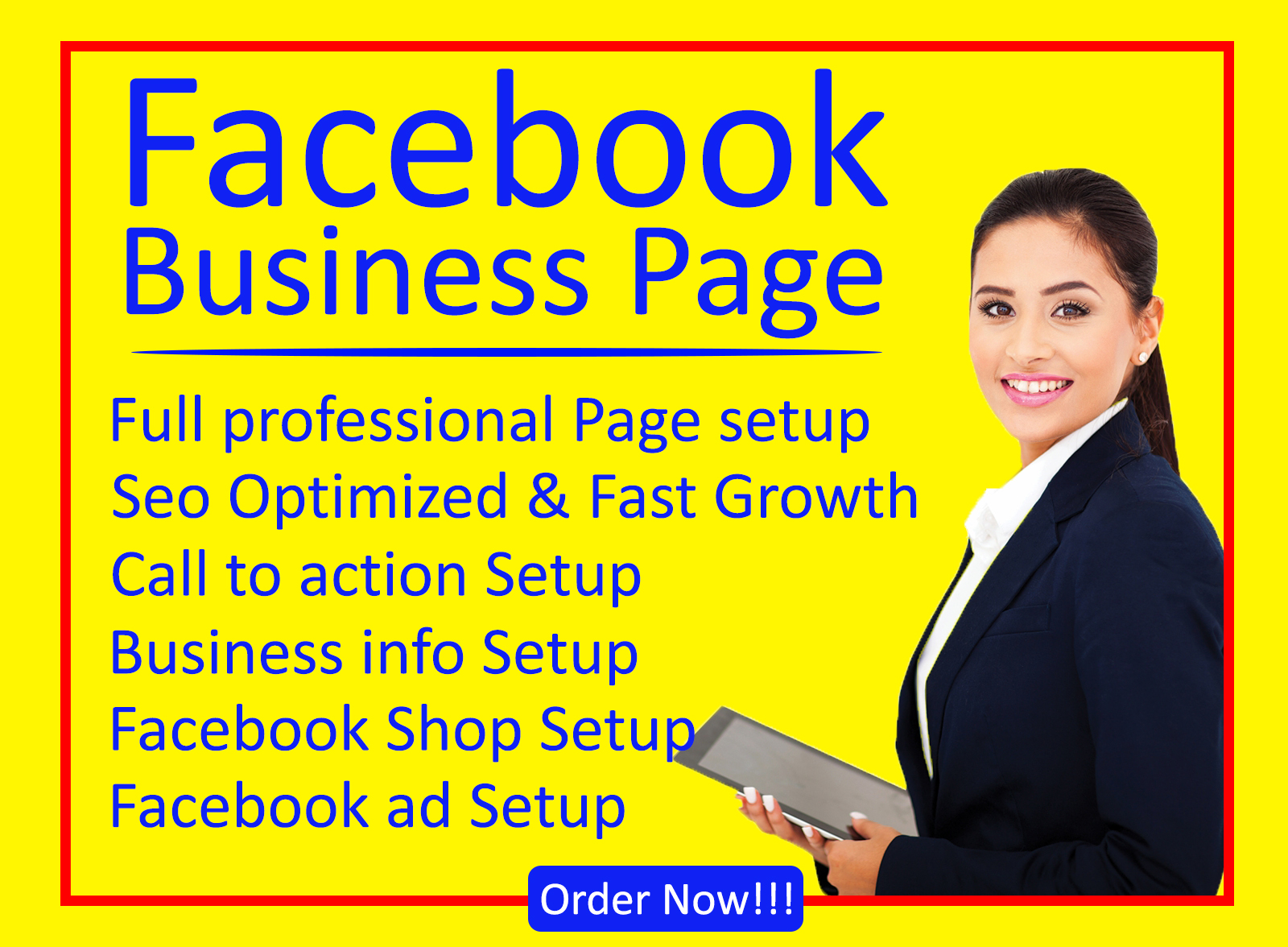 I will set up professional facebook business page