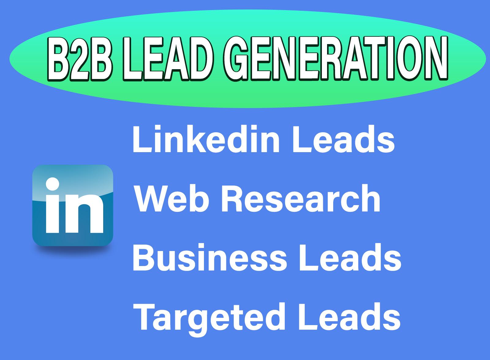 B2B Linkedin Lead Generation,  targeted email list