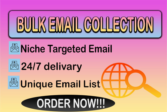 I will Give you niche targeted bulk email list & Bulk EMAIL Collection