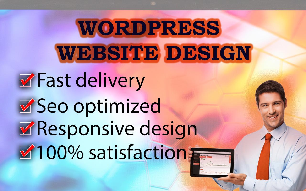 I will do WordPress theme customization and WordPress Website Design