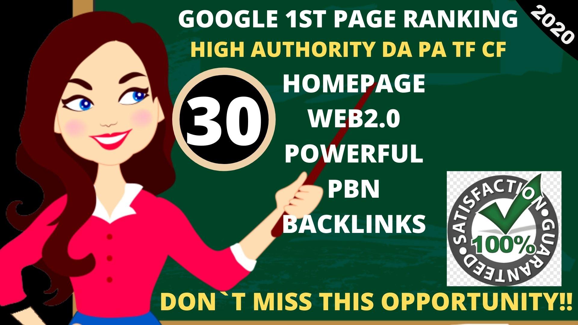 I WILL DO 30+ PERMANENT PBN DA50+ PA35+ Web2.0 Backlink dofollow in unique site