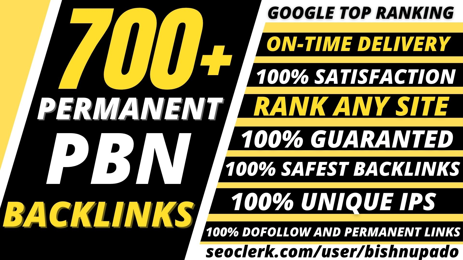 Build permanent 700+ Pbn Backlink DA40+PA40+PR6+homepage web 2.0 with dofollow unique site