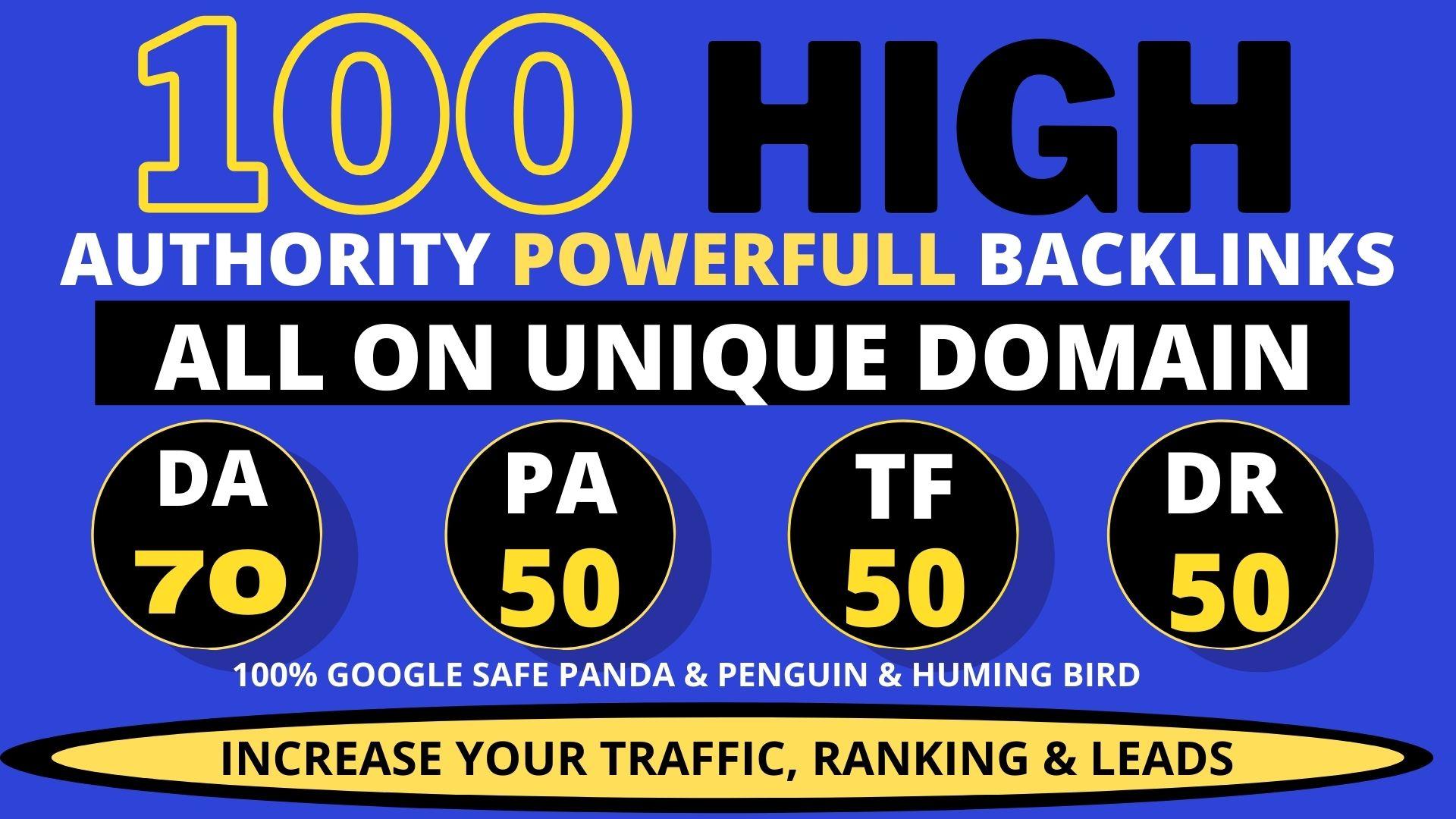 premium 100 Pbn Backlink homepage web 2.0 with permanent do-follow & High DA PA TF CF