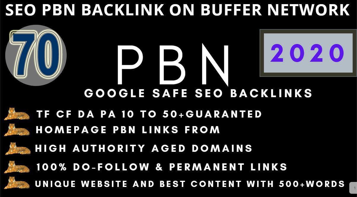 Get Extreme 70+PBN Backlink in your website hompage with HIGH DA/PA/TF/CF with unique website