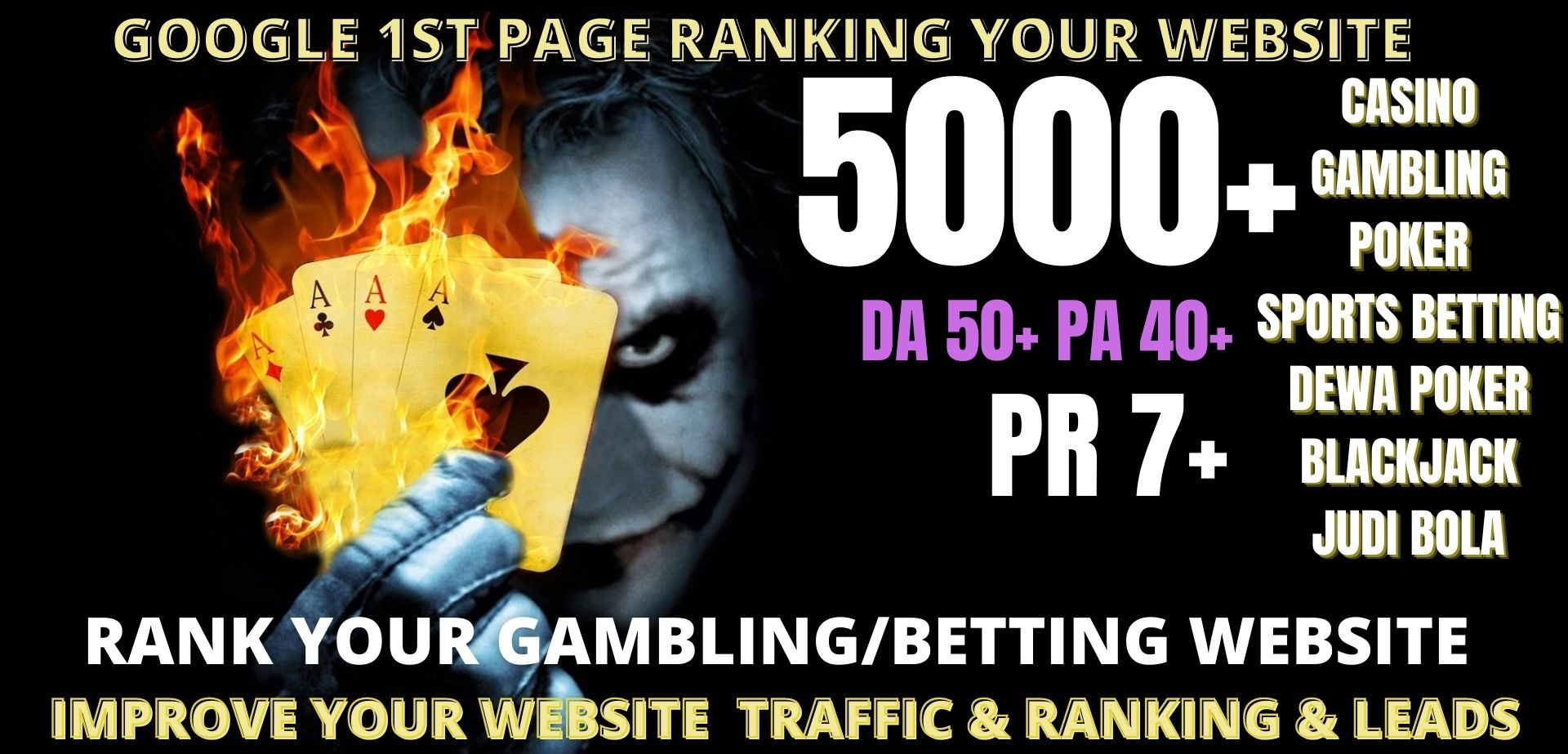 Rank 1st page 5000+pbn casin/ Poker/gamblinng/judi bola related homepage with unique website links