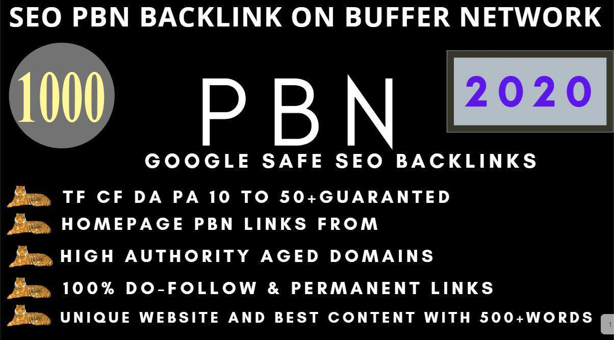 Build 1000+PBN Backlink in your website hompage with HIGH DA/PA/TF/CF with unique website