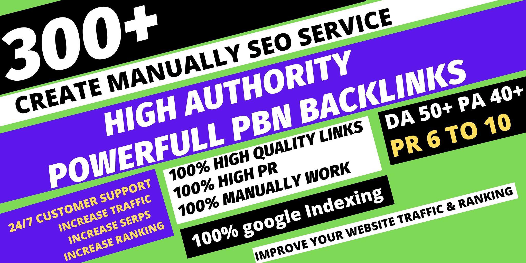 get premium permanent 300 Pbn Backlink DA50+PA40+PR6+homepage web 2.0 with dofollow 50 unique site