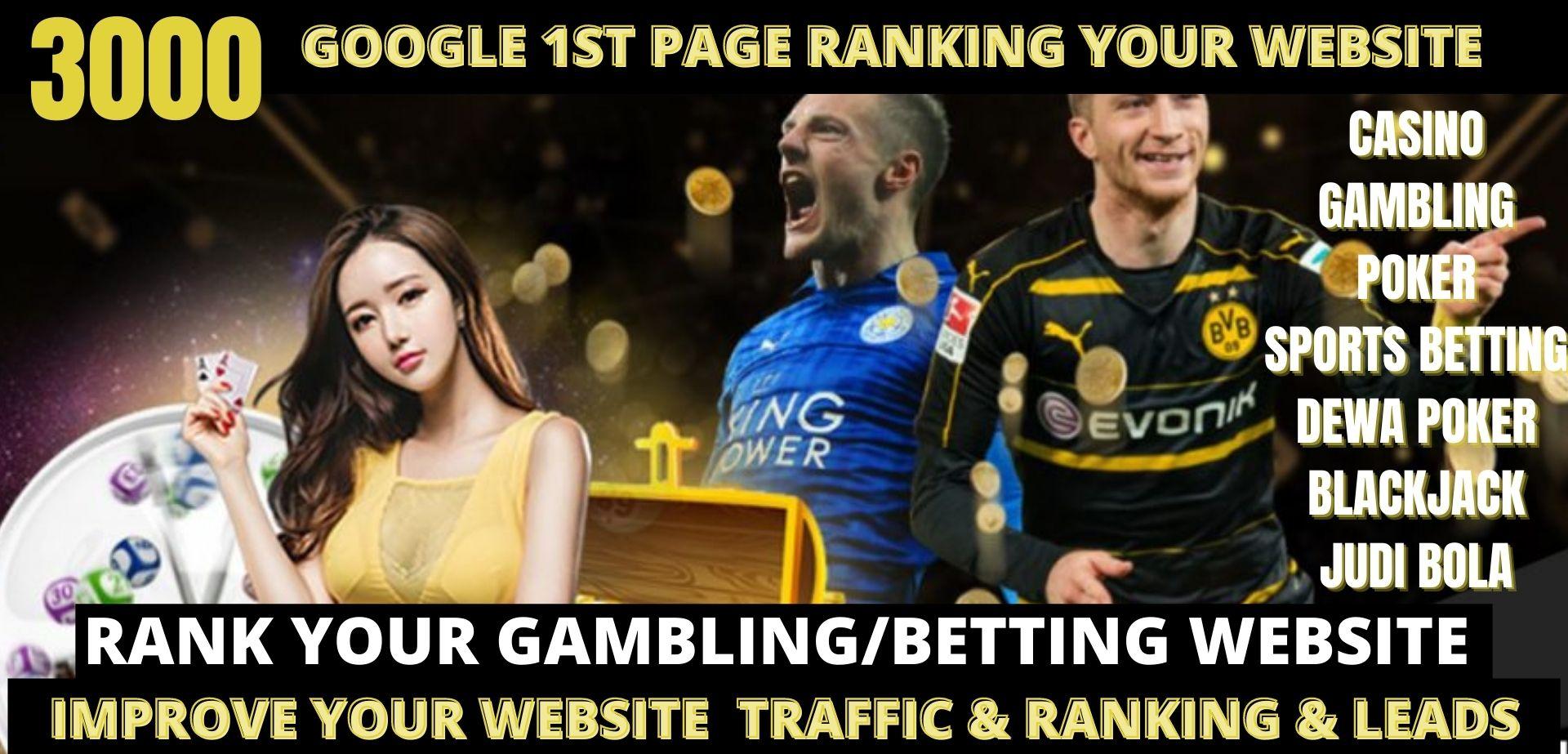 Permanent 3000+ pbn powerful Casino,  Gambling,  Poker,  Sports High Quality Web2.0 Backlinks