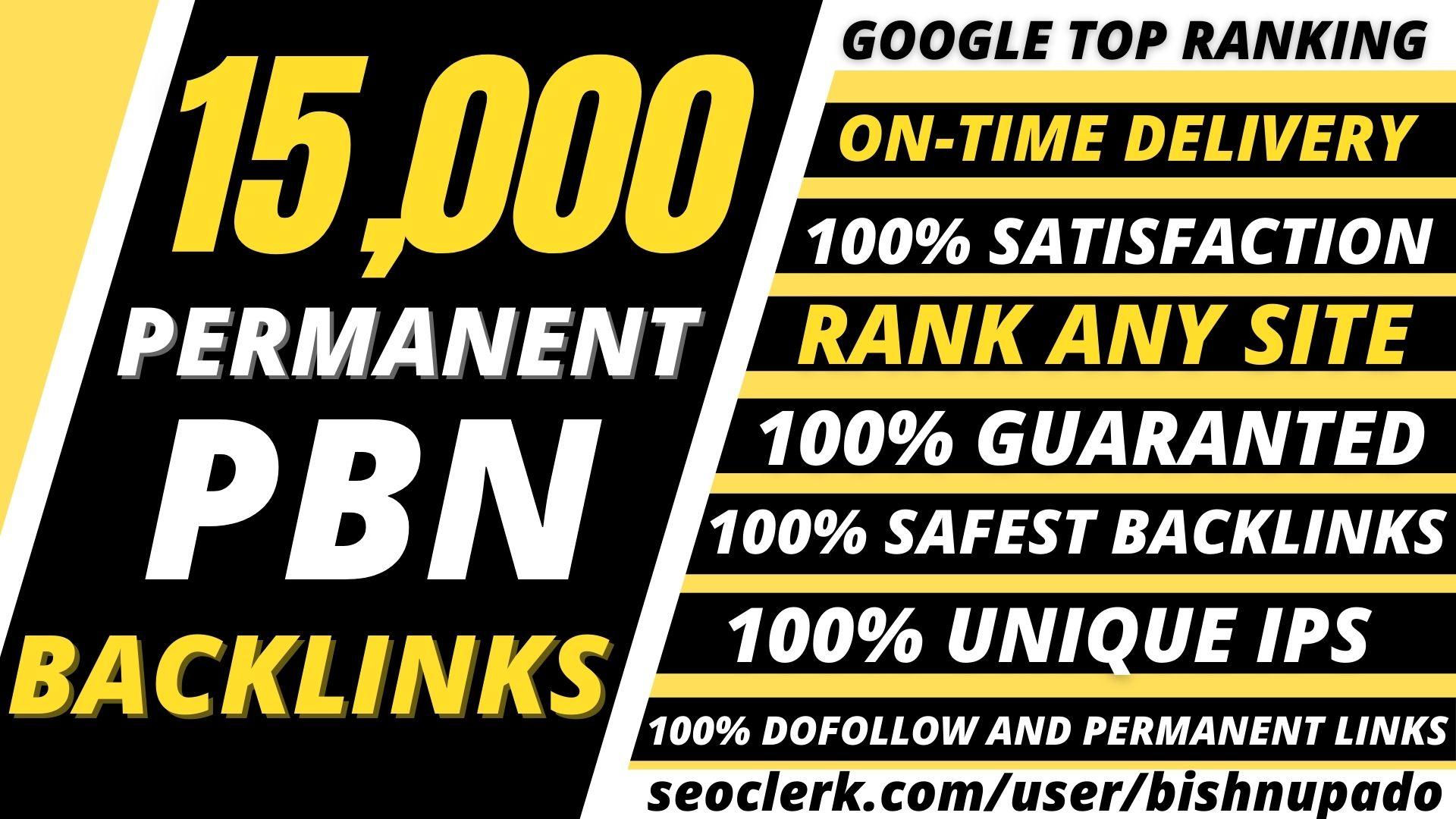 BUILD 15,000+ Permanent PBN High QUALITY LOW Spam LINKS DA 50+ PA 40+ PR5+DR 50+ WEB 2.0 unique site