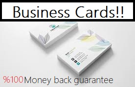 Business Card designer 100 guaranteed and 100 refundable