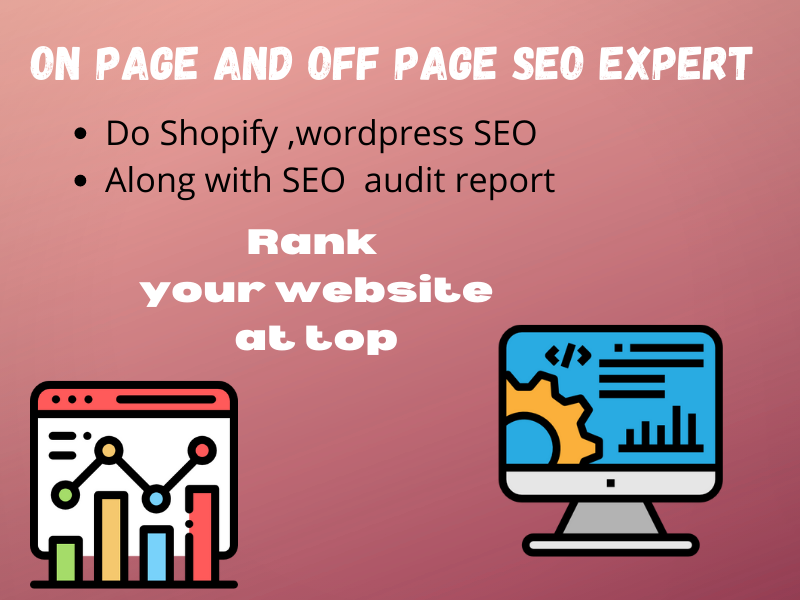 I will do complete on page and off page SEO with audit report