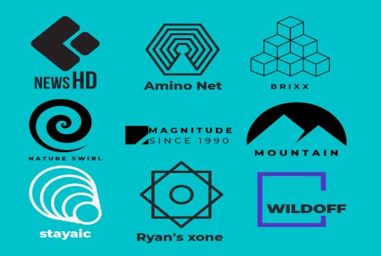 2 minimal/minimalist logo design with brand name concepts