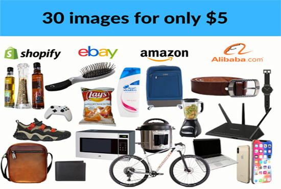 Amazon, ebay product background removal services total 30 images