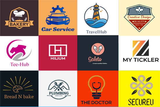 2 logo design concepts+2 Business name concepts with available domains by the best logo designer