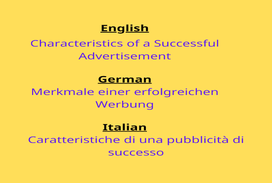 I will translate upto 1000 words english, german, italian into each other