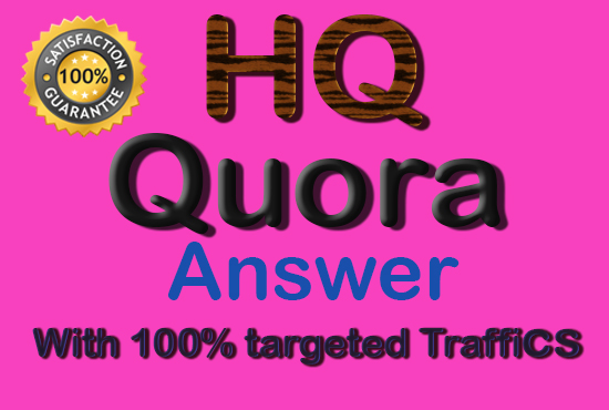 Guaranteed 5 Quora Answer with promoting your website worldwide
