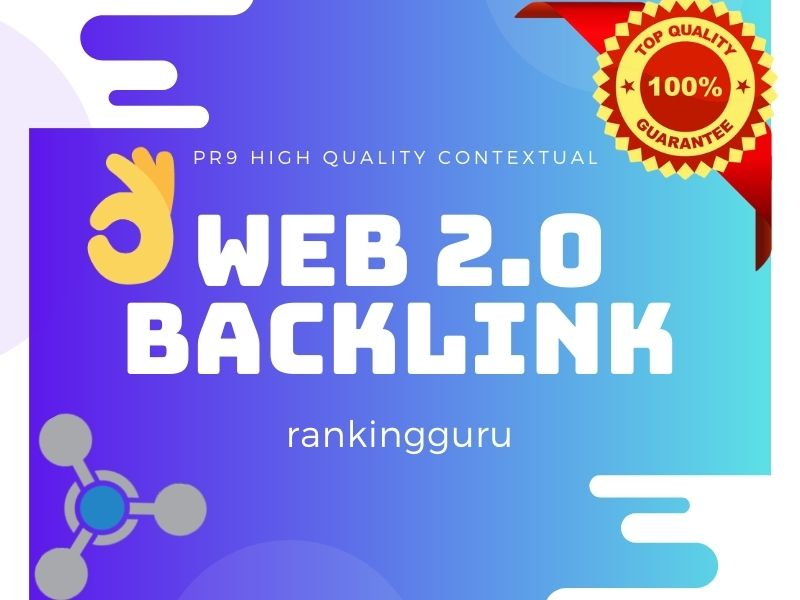 I'll Do 25 Web 2.0 Contextual Backlinks of High PR mostly dofollow