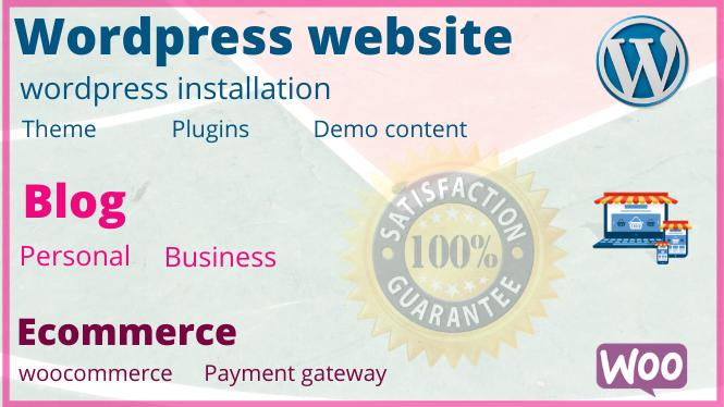 I will Create Wordpress website,  Blog or E-commerce website