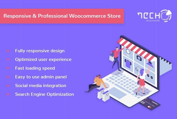 I will develop wordpress website with responsive web design
