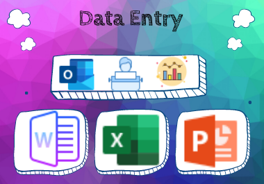 All kinds of Data Entry Jobs done by Professional Office Expert
