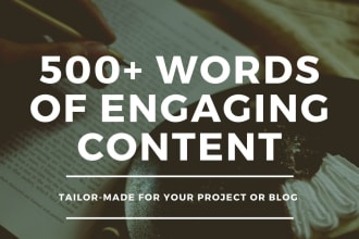 I will be your SEO website content writer,  article and blog writer for 500 words
