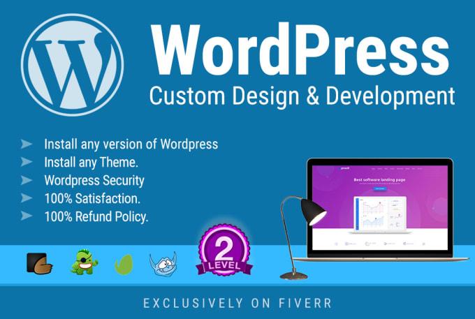 Wordpress custom design and development