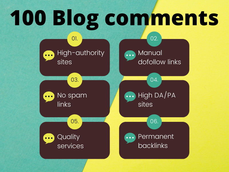 Boost seo ranking with 50 high authority blog comments manual backlinks service