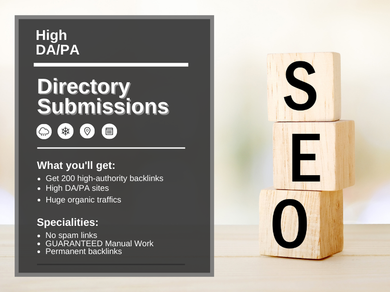 200 high authority manual dofollow directory submission backlinks for website ranking