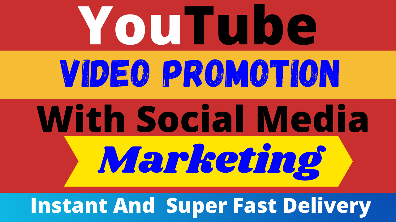 YouTube Video Promotion with Social Media Marketing All In One Service Ranking Your Video