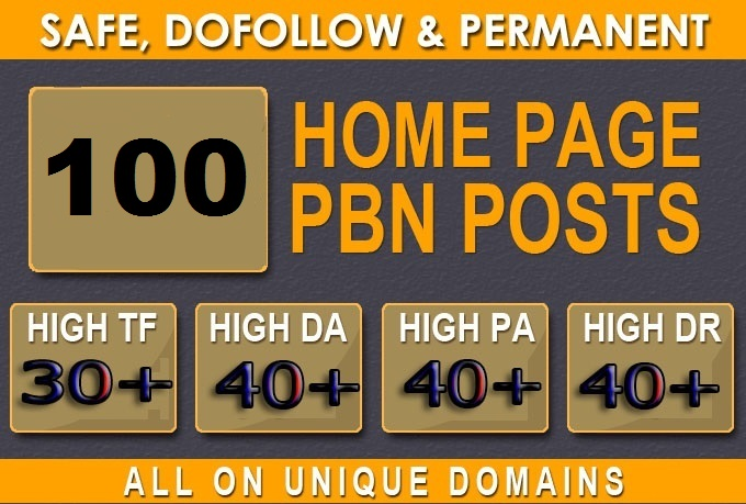 Get Extreme 100+PBN Backlink in your website hompage with HIGH DA/PA/TF/CF with Uniqe Website