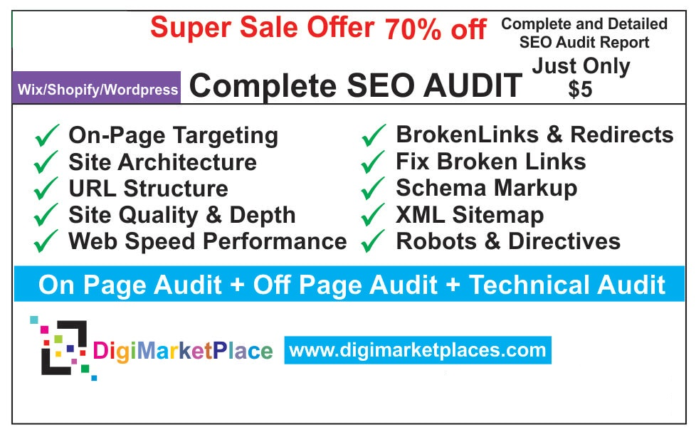 I will provide a professional SEO audit report and action plan for website
