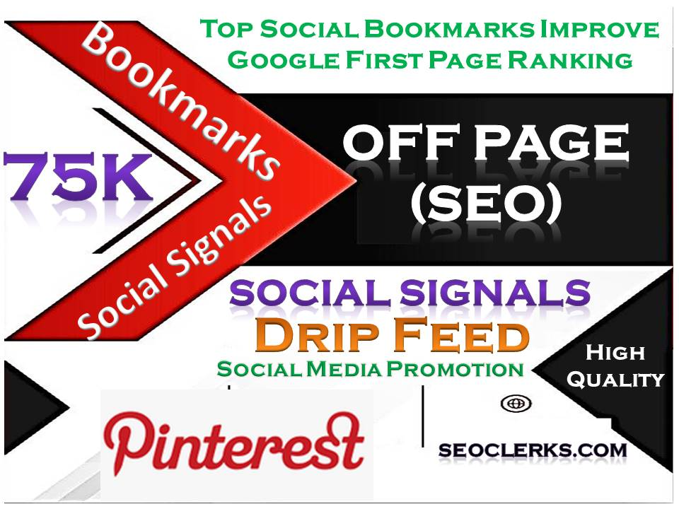 TOP Powerful Site 75K Social Signals Pinterest Bookmark Backlinks SEO Boost increase Google Ranking