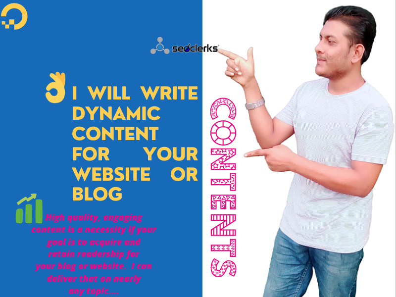 I will write dynamic content for your website or blog