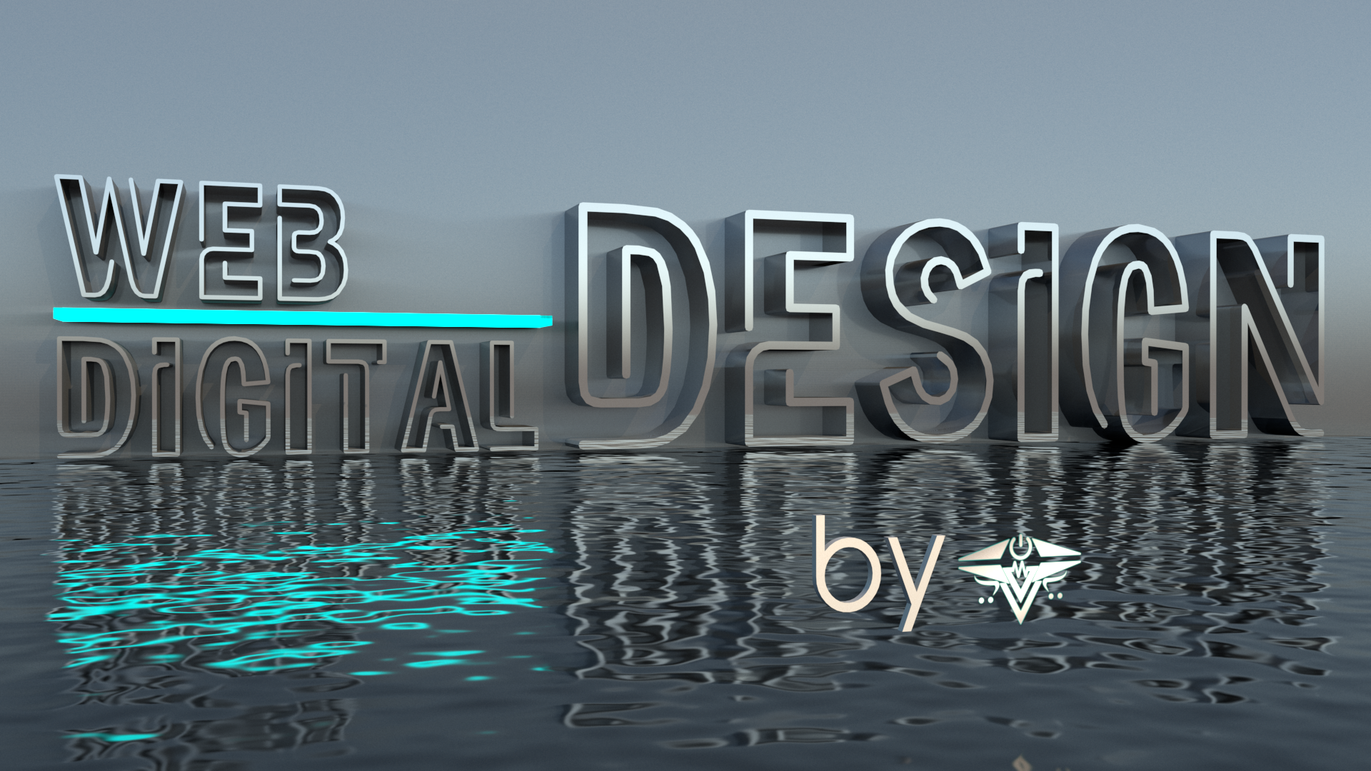 High Resolution 3D Rendered Wording Make your words 3D