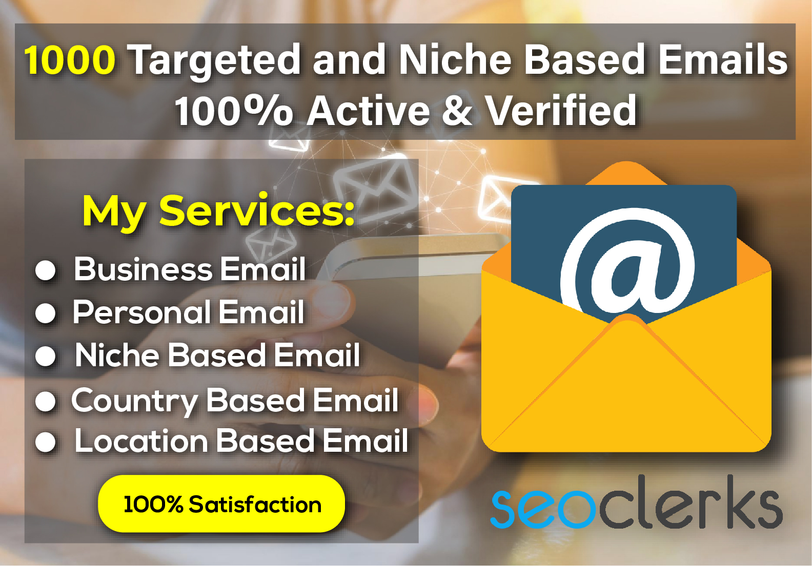 I will Collect 1000 targeted & Niche Based Emails in 24hr