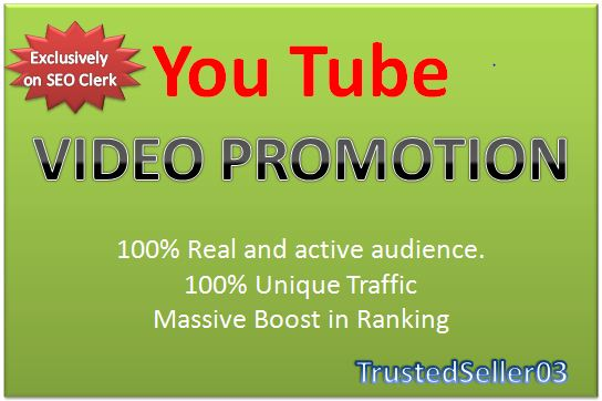 Organic Youtube promotion by real visitors