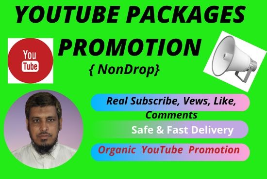 I will organic promotion your YouTube video