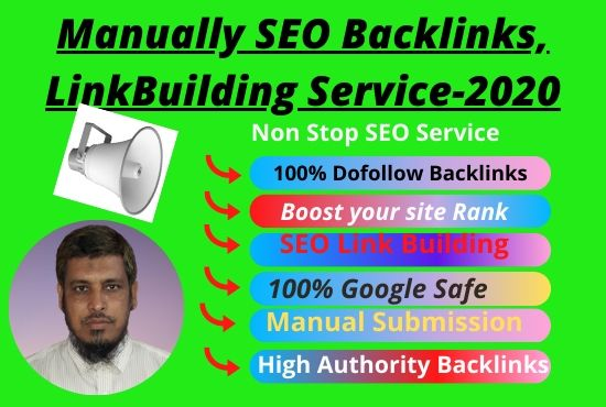 I will build 60 best Organic SEO backlinks link building